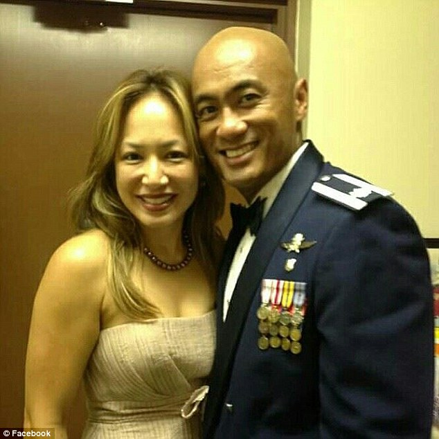 Gail Minglana Martinez and husband Air Force Lt. Col. Kato Martinez (Source: facebook.com)