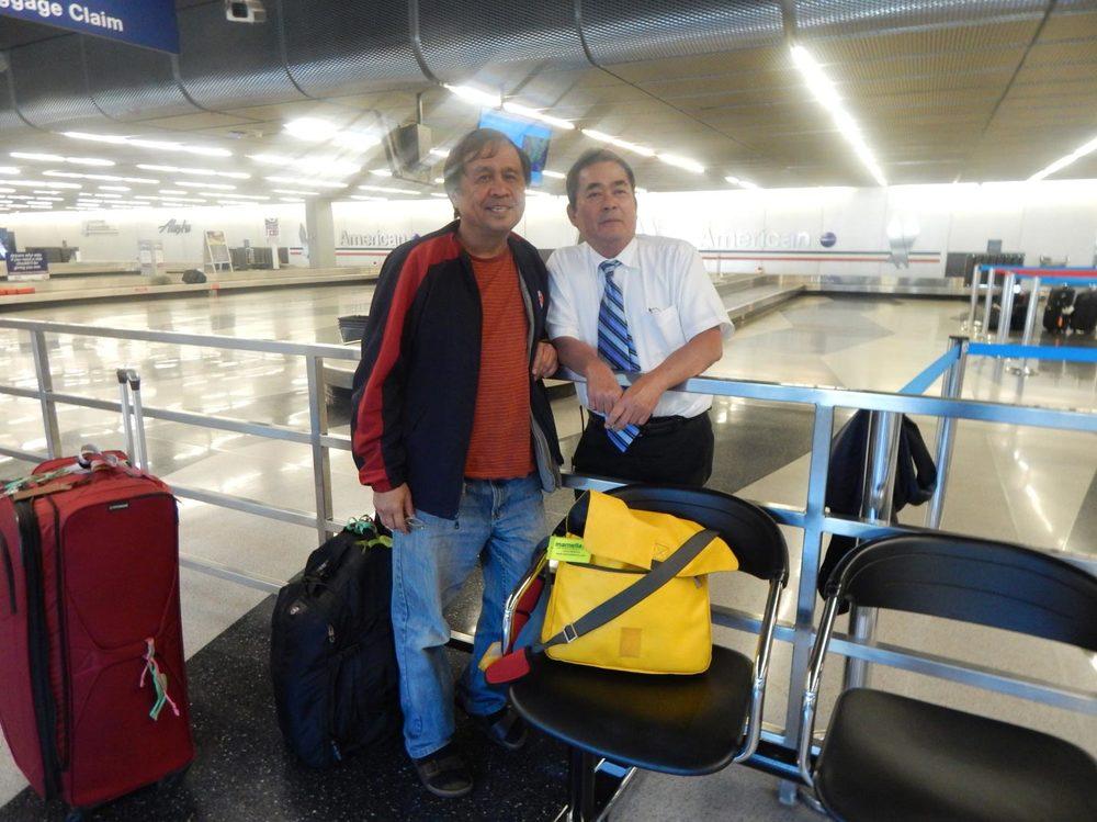With Modesto Romualdo. (Photo courtesy of Rey E. de la Cruz.Photo editing by Ivan Kevin Castro)