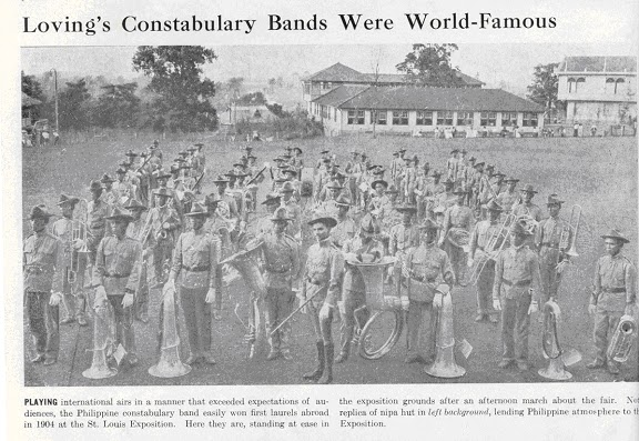 The Philippine Constabulary Band at the 1904 St. Louis World Fair (Source: http://adenu1980.blogspot.com/)