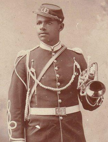 Walter Loving in U.S. Army during the 1890s (Source; Wikipedia)