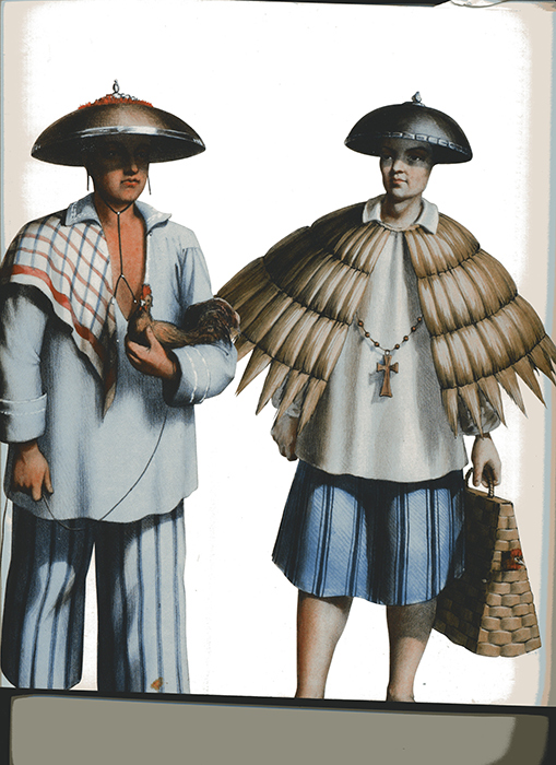 "Filipino men are often depicted holding a rooster (Source: ""Album, Islas Filipinas, 1683-1888,"" by Juan Maria Cariño and Sonia Pinto Ner. Manila: Ars Mundi. Philippines, (2004))"