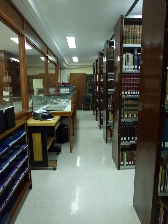 The archival book stacks and cabinets. (Photo by Jonathan Best)