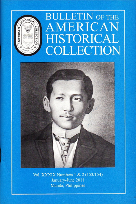 Special Jose Rizal edition of the AHC Bulletin 2011 (Photo by Jonathan Best)