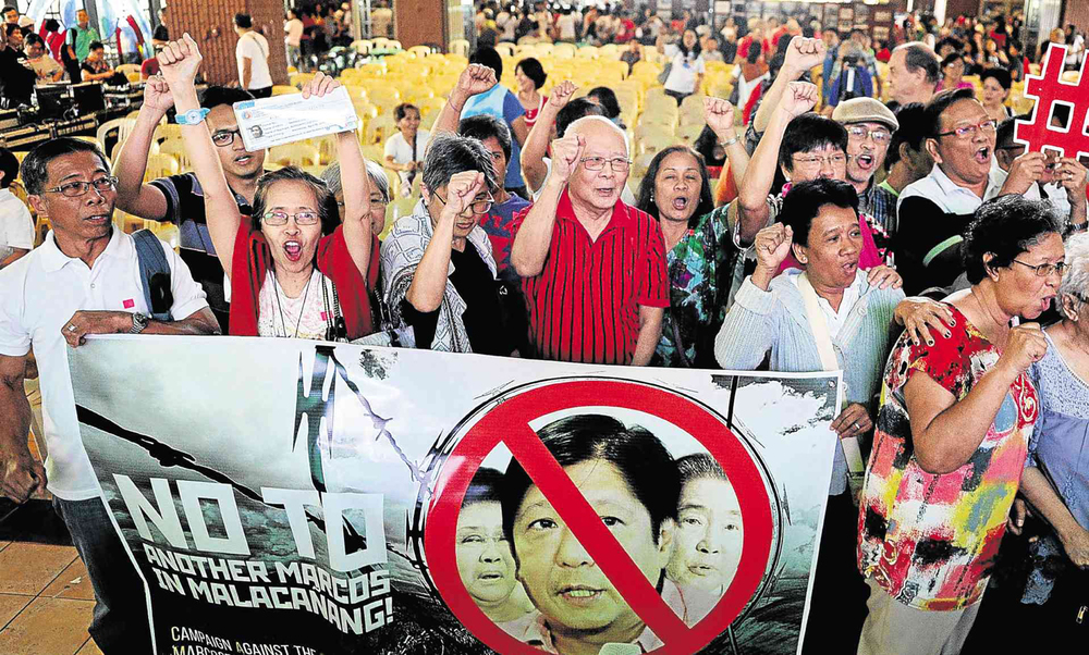 Massive protests like this will greet Bongbong should he visit the US in a future position and traveling under the cover of a diplomatic visa.