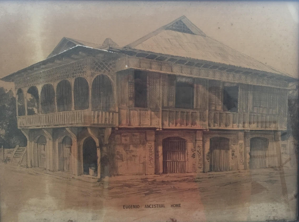 Rosa Quirino and Amadeo Eugenio's ancestral home in Laoag, Ilocos Norte. (Photo from the Rosa Quirino Eugenio family).