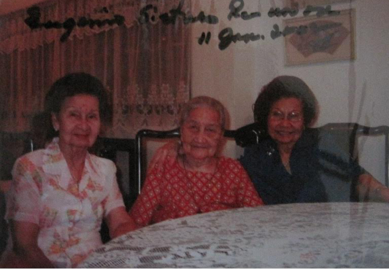 Rosa Quirino and Amadeo Eugenio's daughters: Alma married Primo de los Santos, Felicidad married Cosme Lamug and Pacita married Luis B. Adea. Lourdes died when she was 15. (Photo from the Pacita Q. Eugenio Adea family)