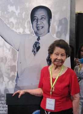 Pacita Q. Eugenio Adea, now nearly 94, the last living daughter of Rosa, still travels to family reunions, the most recent was to Vigan for the 125th birth anniversary of the late President Elpidio Quirino in November 2015. (Photo from the Pacita Q. Eugenio Adea family).