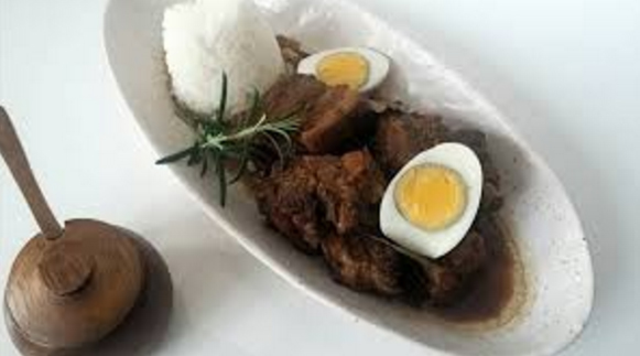 Pork Adobo served with boiled egg and steamed rice (Photo by Lola's Kusina)