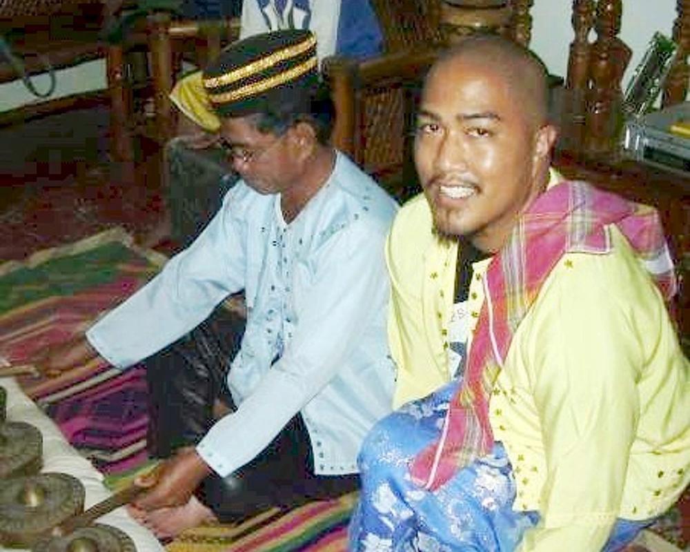 Bernard Ellorin (right) with Taalao Manandao, a Sulu Kulintang Master