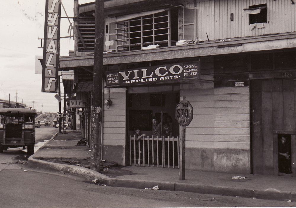 Vilco Applied Arts Shop with SYM and family, 1960s (Photo courtesy of Ely Mendoza)