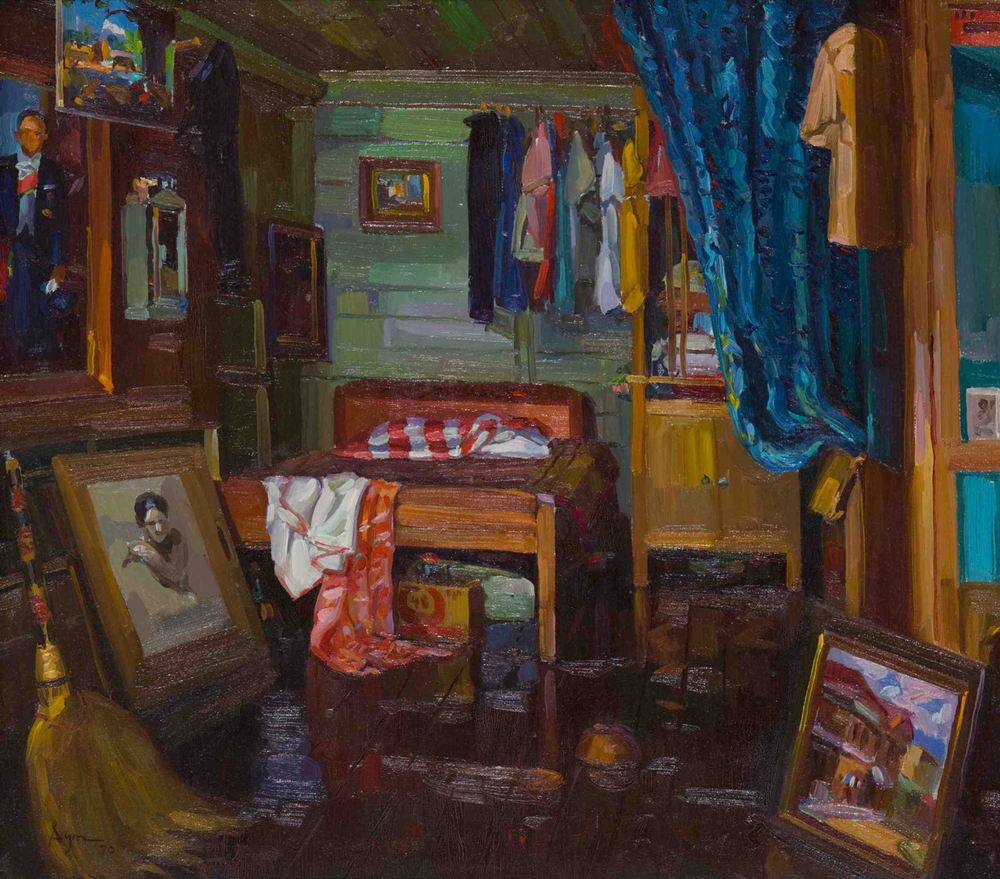 "Dimasalang Interior I, 1970 Oil on Canvas 18"" x 20"" by SYM (Photo by Stuart Dee)"