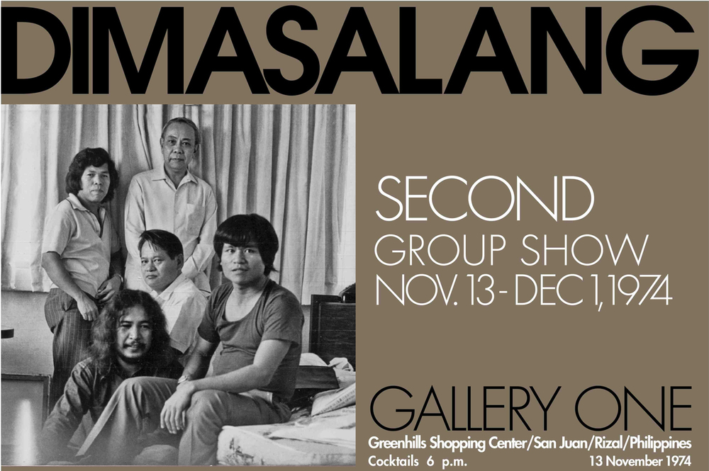 Original Dimasalang artists, 1974 (Poster photo reproduced by Andy Naval)
