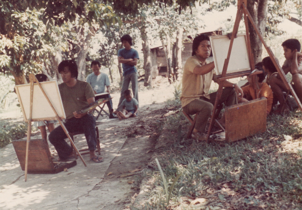 En plein air painting in Manila by Dimasalang Artists, 1970s (Photo courtesy of Ely Mendoza)