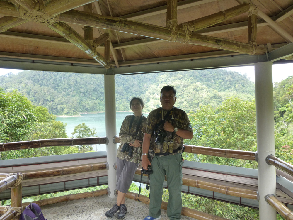 The author with Jac, the birding guide (Photo courtesy of Criselda Yabes)