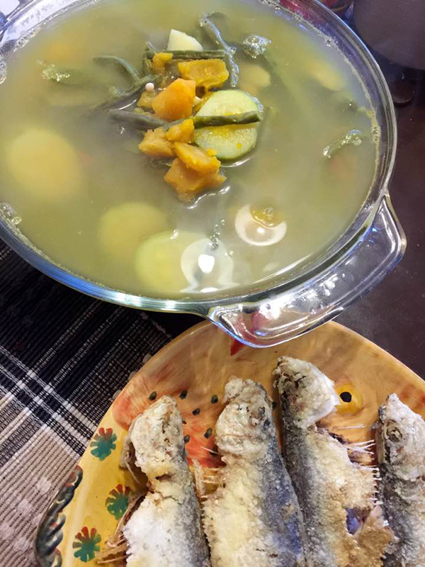 Bulanglang Batangas-style with Crispy Tawilis and Calamansi Dipping Sauce (Photo by Jojo Sabalvaro-Tan)