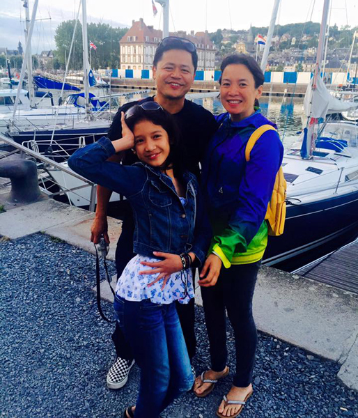 La famille Agoncillo-Herbosa, 4th generation, today. Paul, Mia and daughter Lana, 13, taken at Honfleur, France, summer 2015. (Photo from personal collection of Mia Herbosa-Agoncillo)
