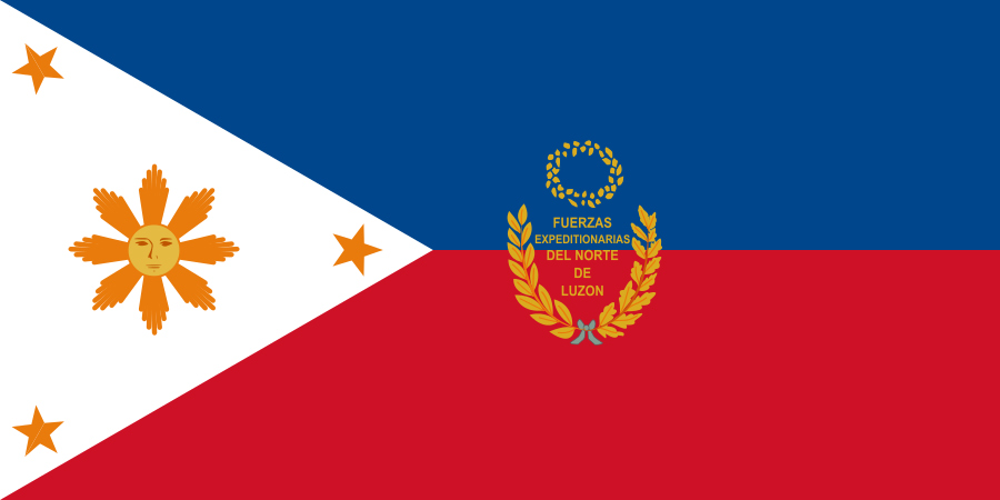 The Philippine Flag as designed by Emilio Aguinaldo