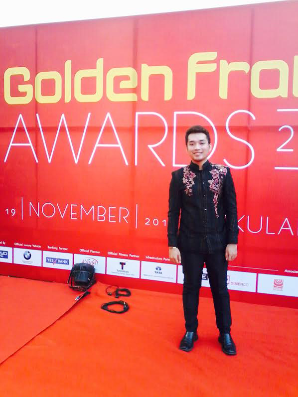 Carlo Enciso Catu, at the the Golden Frame awards ceremony of the All Lights India International Film Festival (Photo courtesy of  Carlo Enciso Catu)