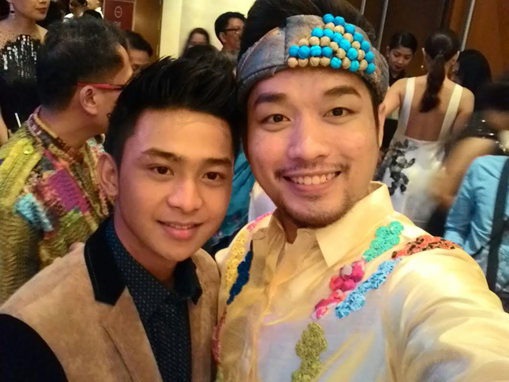 "Carlo Enciso Catu (right) with Ronwaldo Martin, lead actor of ""ARI"" (Photo courtesy of  Carlo Enciso Catu)"
