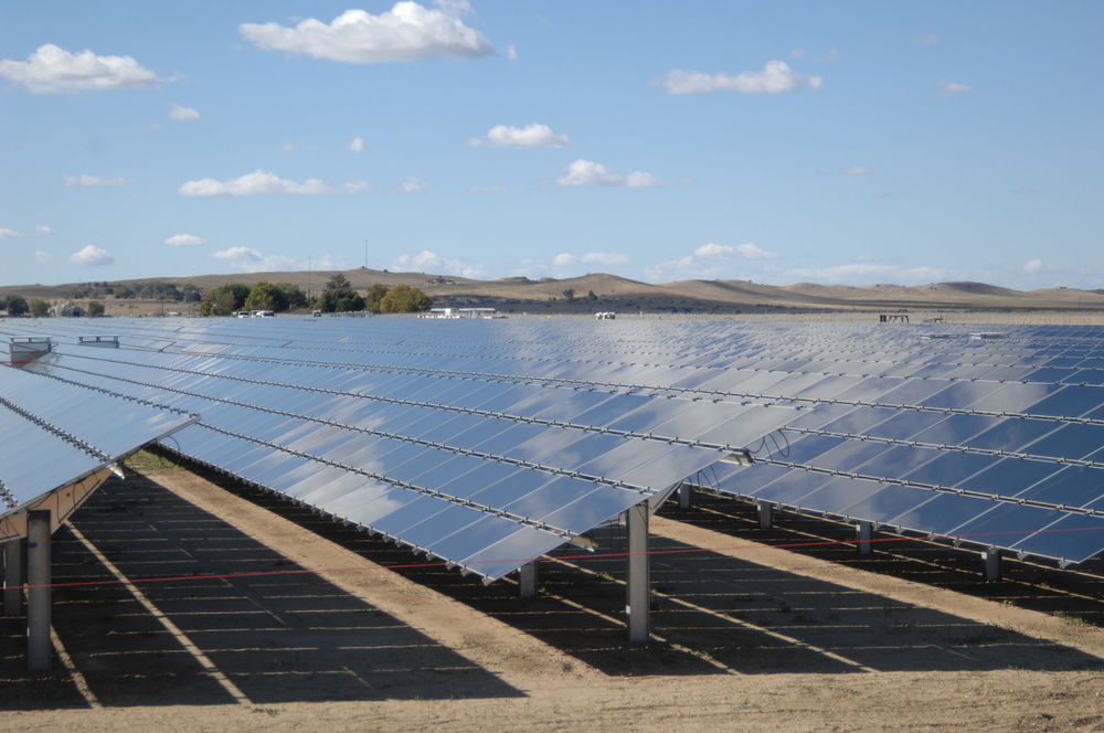 A solar farm (Source: wikipedia)