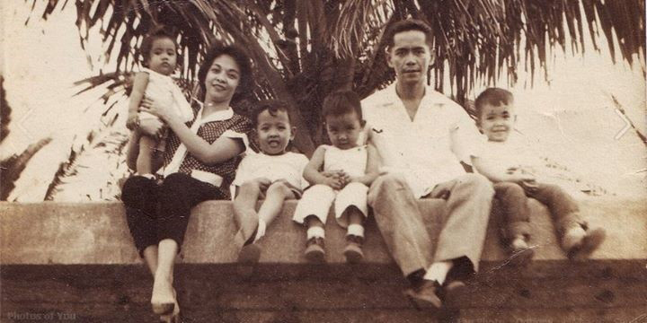 The Yabut Family at Roxas Boulevard seawall (Photo courtesy of Ted Yabut, Jr.)