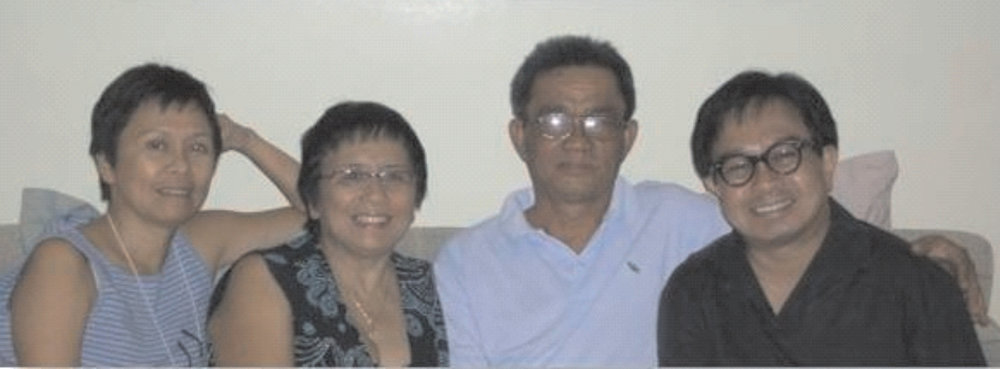 Left to right: Marie, Isabel, Saturnino Jr., and John.  (Source: the MWF Newsletter)