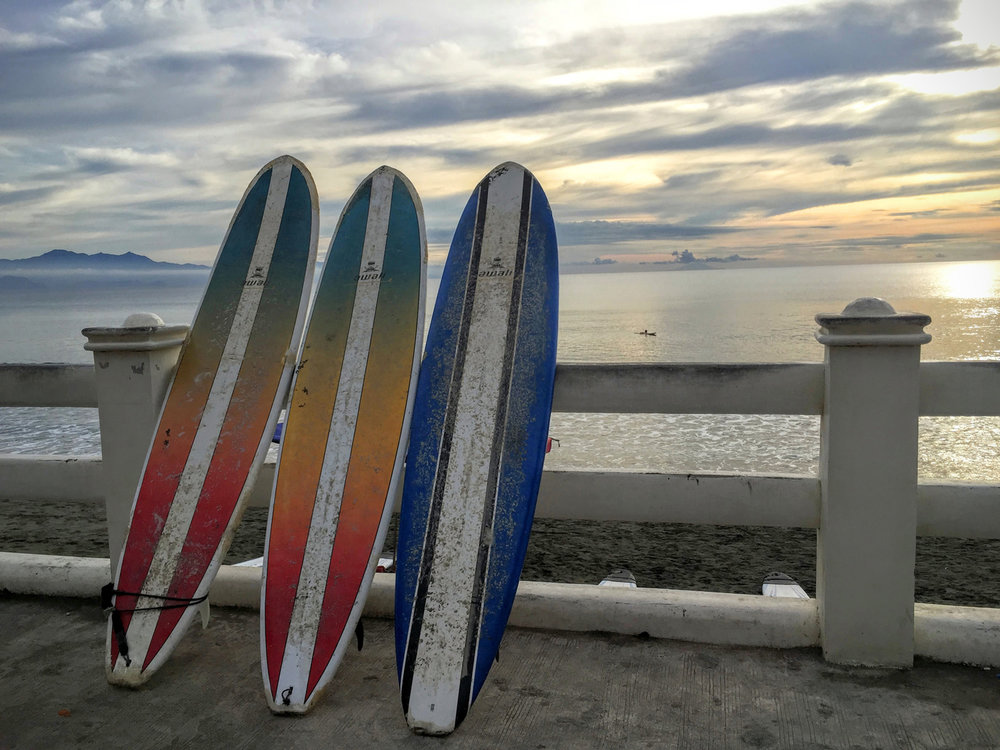 Sabang Beach in Baler, Aurora is the birthplace of surfing in the Philippines. (Photo by Omar Paz)