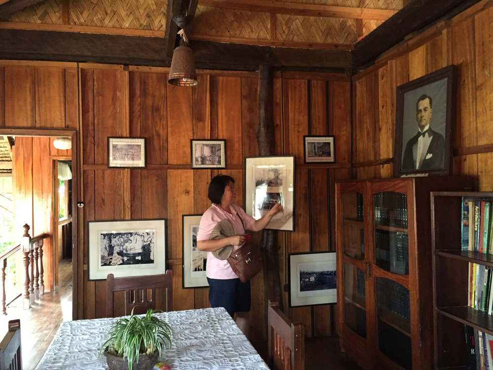 Quezon's memorabilia hanging in the dining room. (Photo by Omar Paz)