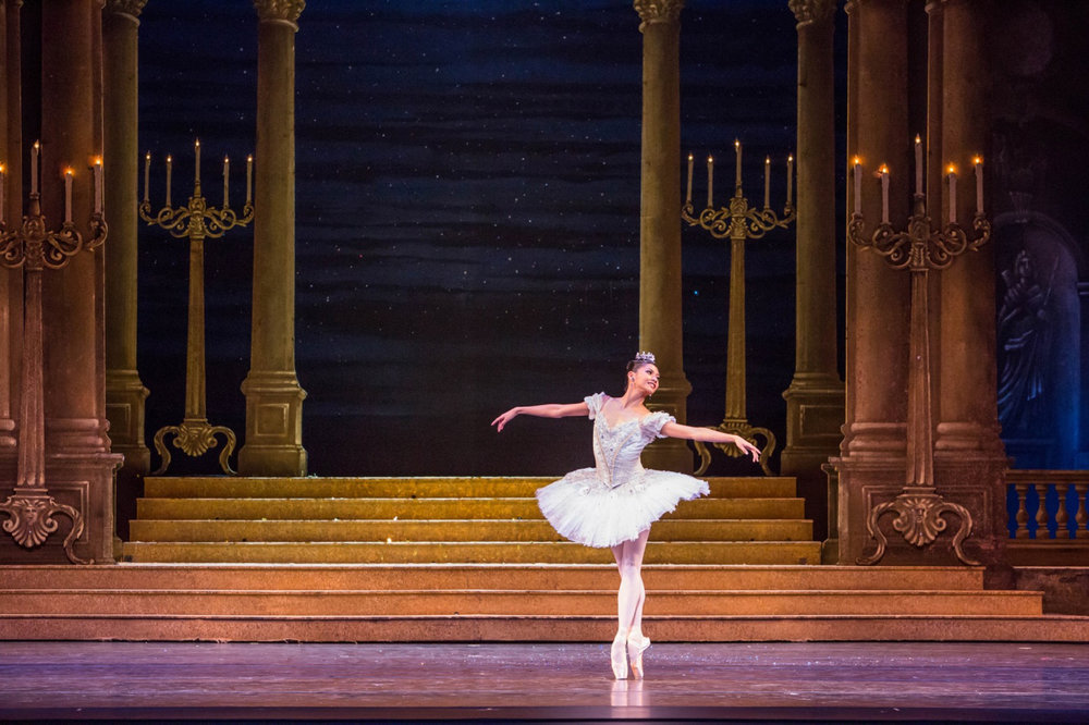 Christine Rocas performs the title role in Sir Frederick Ashton's Cinderella (Photo by Cheryl Mann)