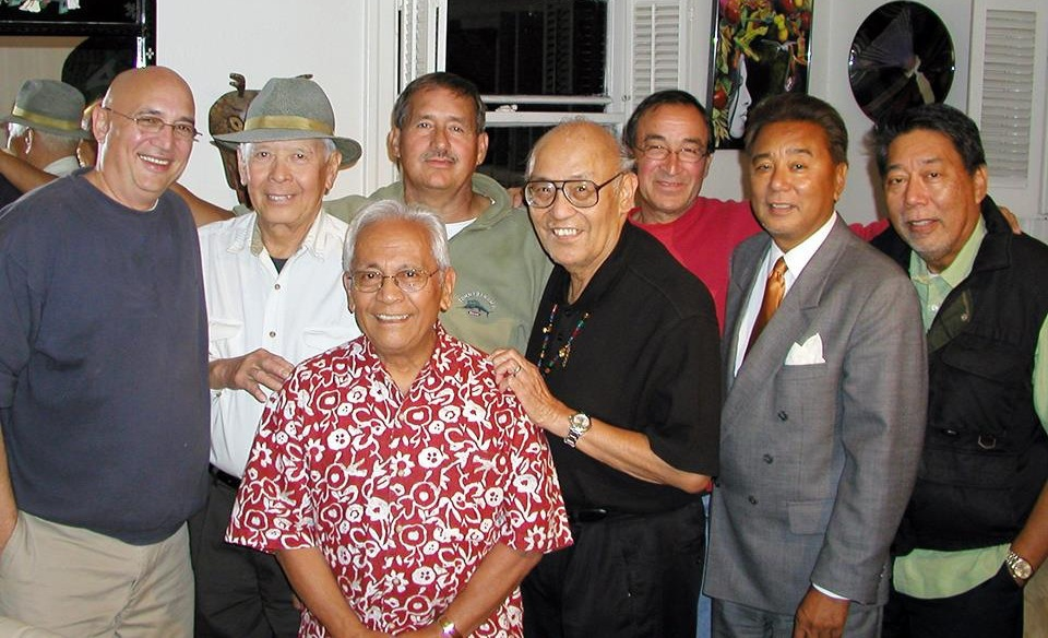 Young Turks (Present day Old Turkeys): Front - Peter Jamero. Back row L-R: Tony Ogilvie, Bob Santos, Dale Tiffany, Fred Cordova, Andres (Sonny) Tangalin, Roy Flores, Larry Flores