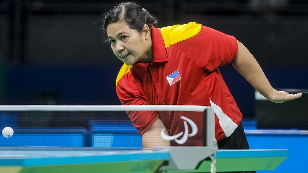 Philippine table tennis player Josephine Medina (Source: ABS-CBN News)