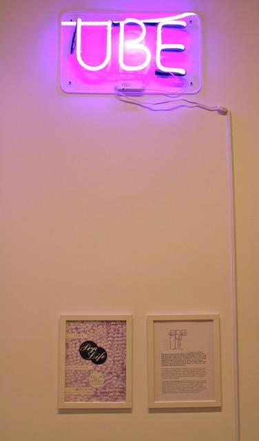 "O.M. France's neon ""UBE"" (Photo: © O.M.France)"