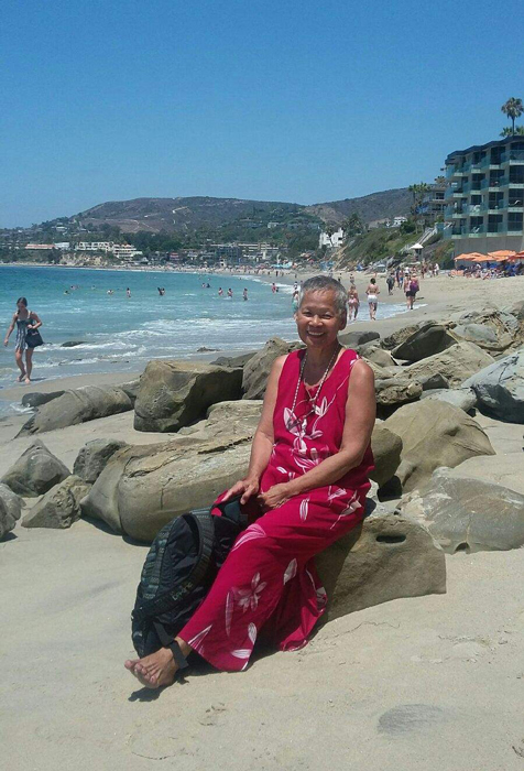 Celia retrenches in Laguna Beach after the hospice experience. (Photo courtesy of Celia Ruiz Tomlinson)