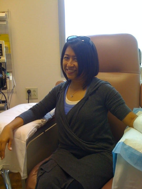 First chemo session (Photo courtesy of Jo-Ann Agcaoili)