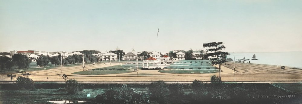 Looking southward from about the same position. Dewey Blvd, the Luneta Hotel, Elks Club and Army Navy Club have yet to be built. (Photo courtesy of John Tewell)