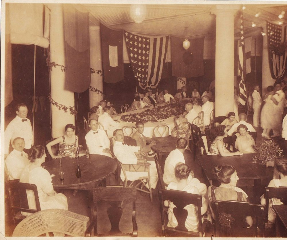Reception for General Wood hosted by Charles Cotterman on October 24, 1921 (Photo courtesy of A. Butler)