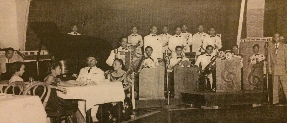 Lito Molina (extreme right) with the College Boys Orchestra-Manila Hotel (Pinoy Jazz Traditions-thanks to I. Reyes)