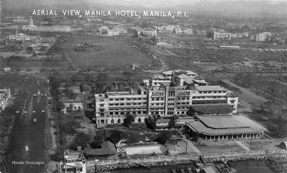 The Manila Hotel now a burnt-out shell. – 1945