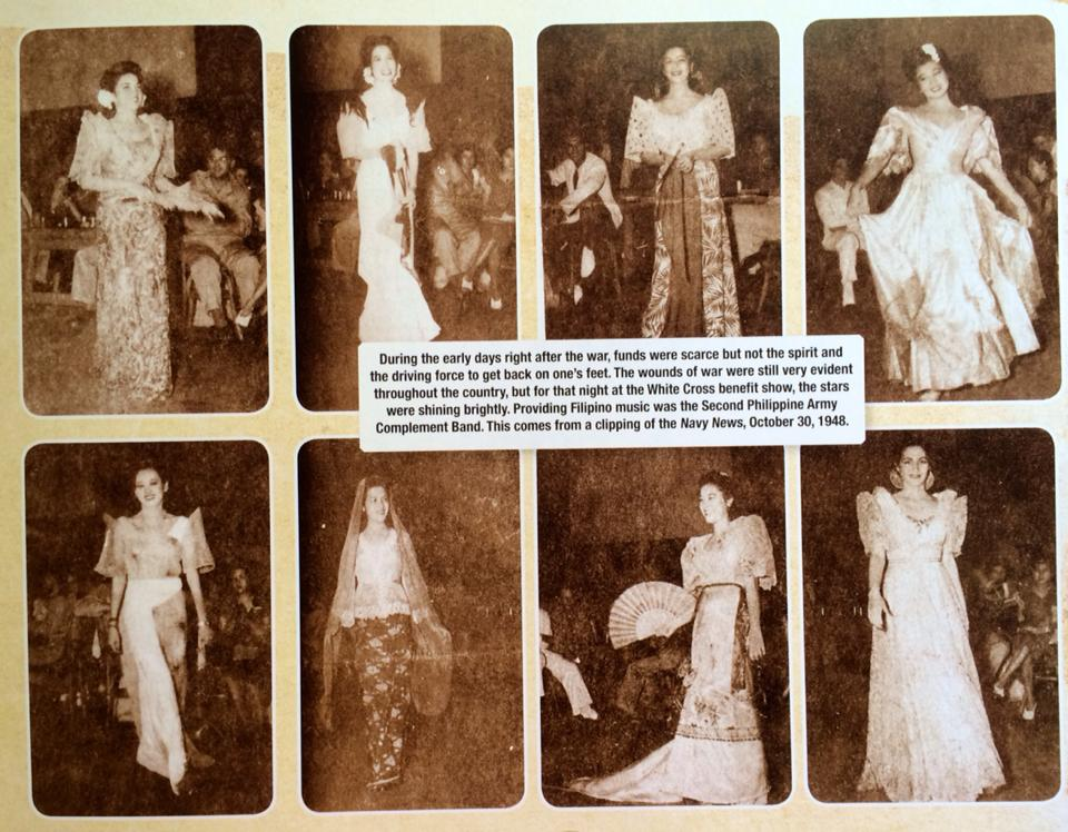 The White Cross Benefit Fashion Show in 1948 (Photo  courtesy of Isidra Reyes)
