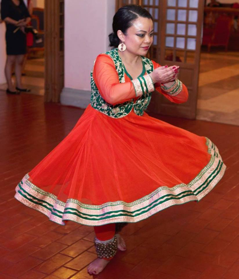 Dien dancing the Kathak (Source; facebook.com)