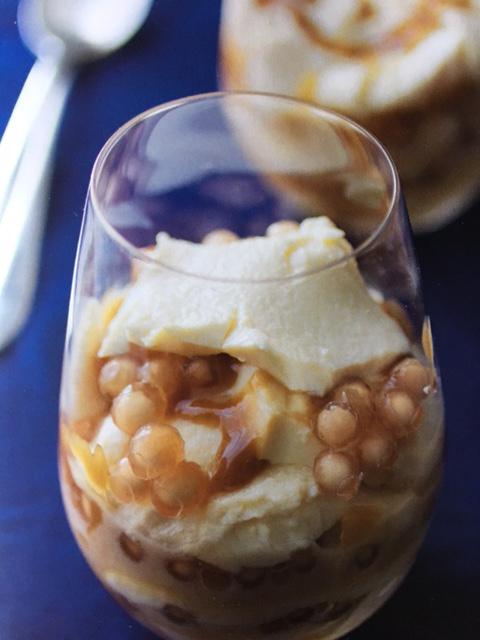 Silken Tofu, Tapioca and Caramel Parfait (Source: The Adobo Road Cookbook)