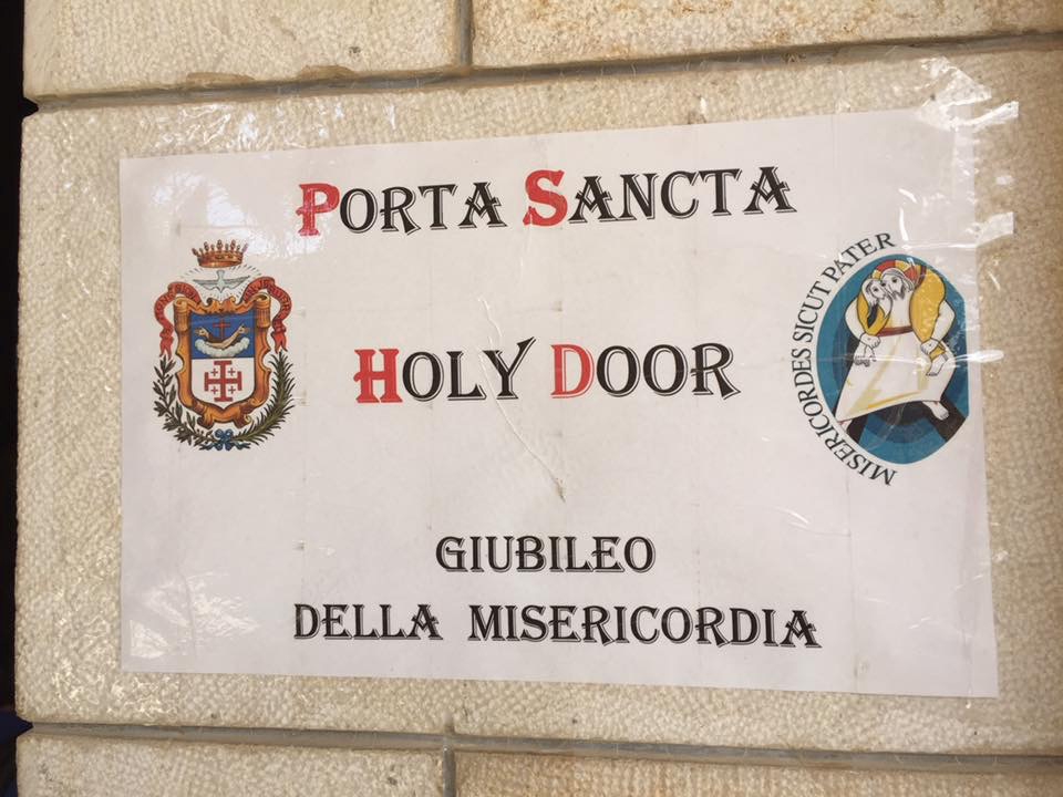 The sign at the Holy Door