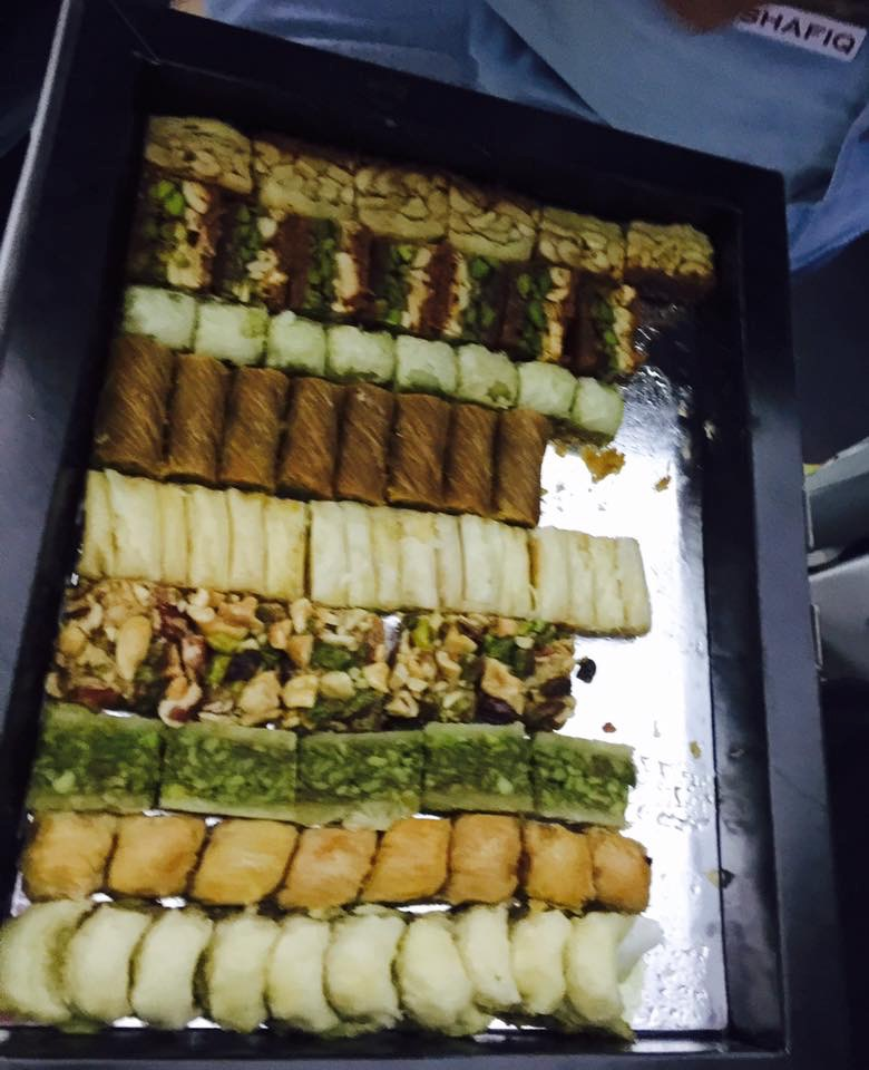 Different kinds of baklava