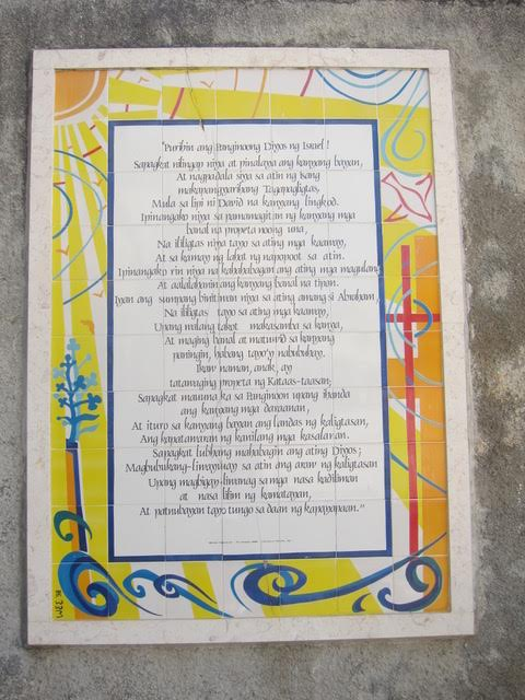Another prayer in Tagalog (Photo by Mona Lisa Yuchengco)