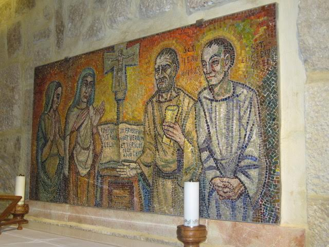 The mosaic artwork inside the church (Photo by Mona Lisa Yuchengco)