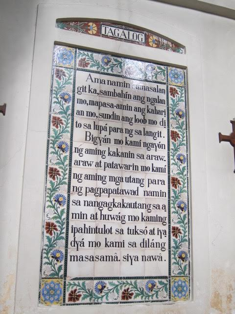 The Lord's Prayer in Tagalog (Photo by Mona Lisa Yuchengco)