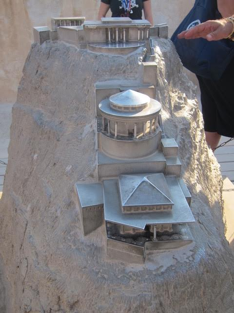 A model showing the Hanging Palace of Herod the Great (Photo by Mona Lisa Yuchengco)