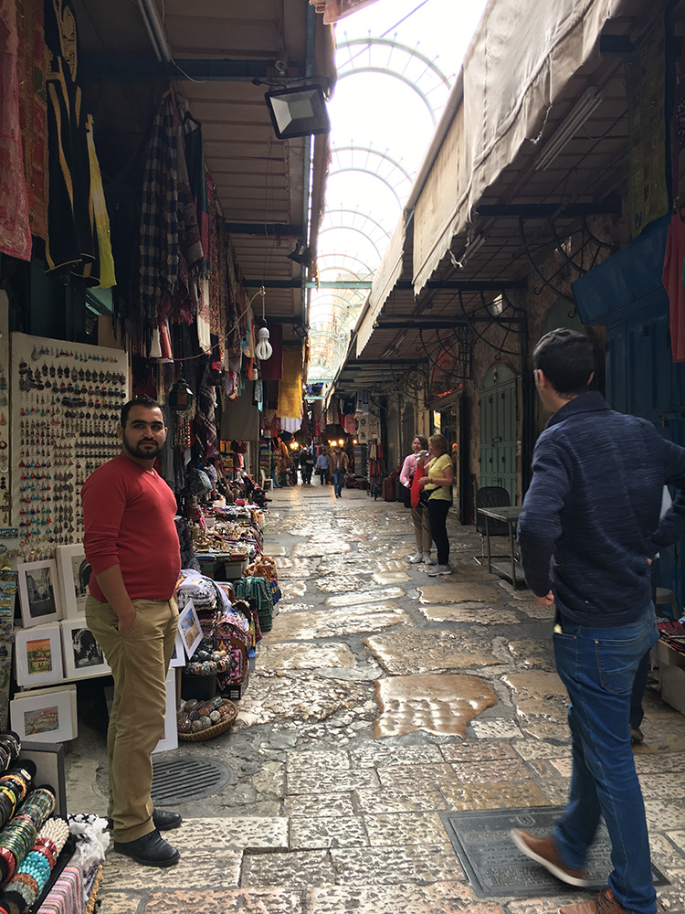 Street at the Old City lined with shops