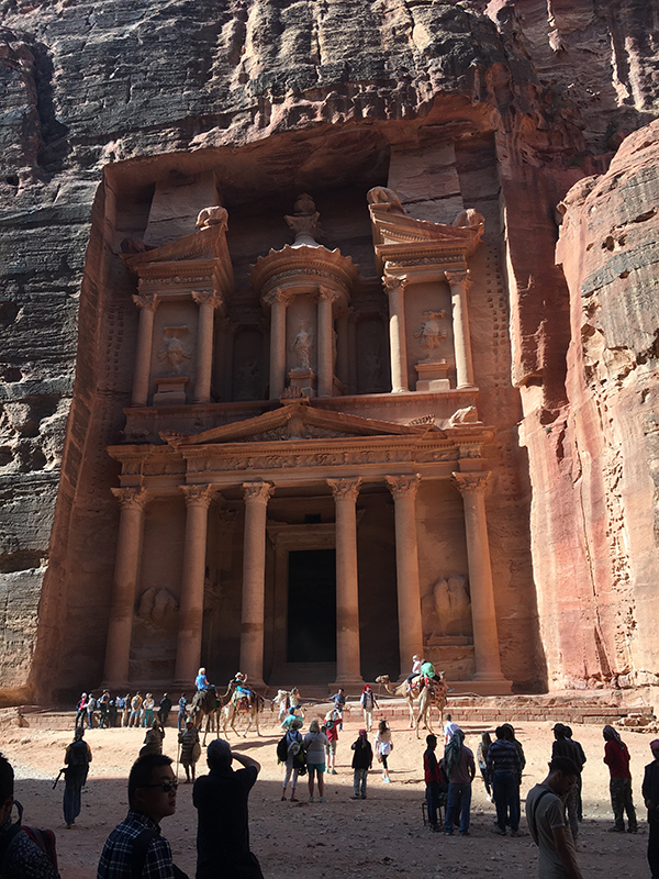 Al Khazneh or The Treasury is Petra's most famous ruin.