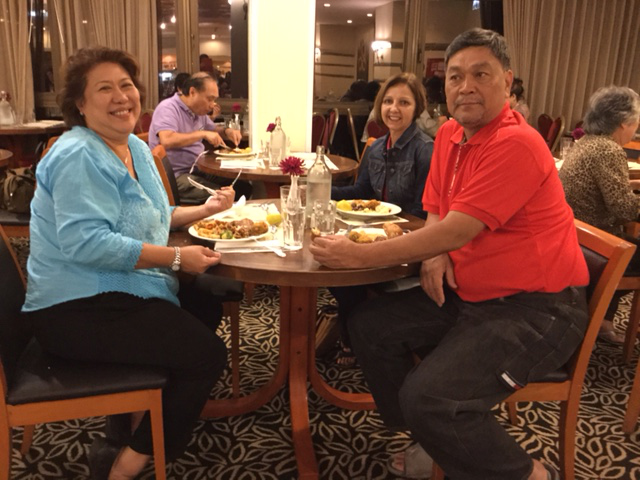 Fran and Boy Cortez are from Vancouver, Canada. Their tour group was also billeted in our hotel. (Photo by Mona Lisa Yuchengco)